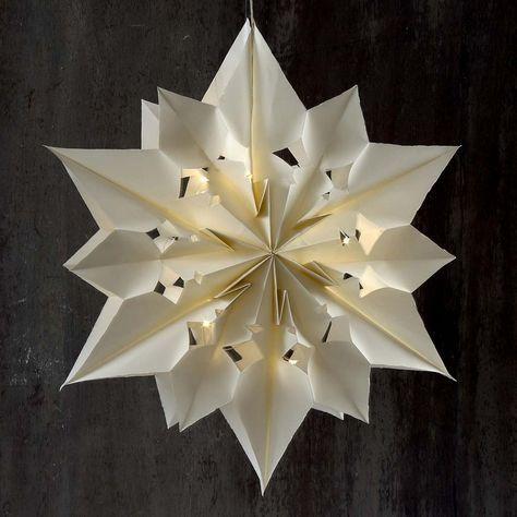 Großer leuchtender Stern aus Papiertüten |DIY Anleitung