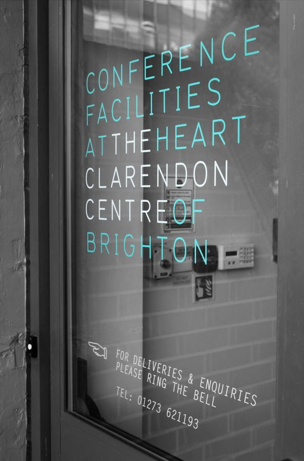 Clarendon Centre Conference Facilities Storefront Window Decals