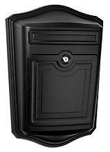 Architectural Mailboxes Boîte aux lettres murale noire Maison avec serrure | Home Depot Canada