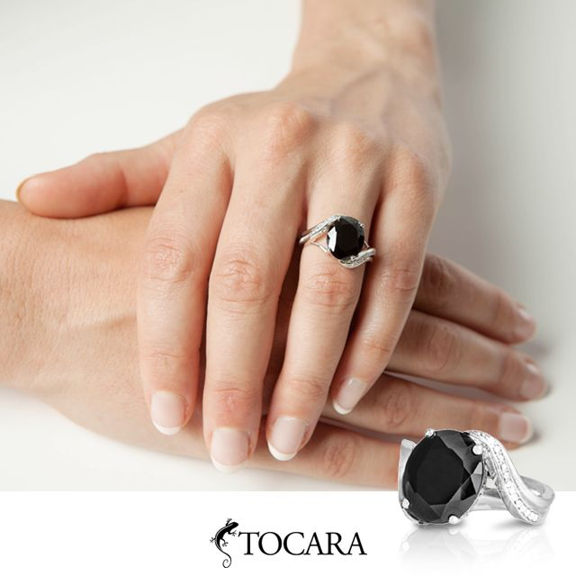 If you love wearing black this exquisite Marie-Claude ring is an absolute must have!  #Tocara #ring #jewelry #DiAmi #Silver