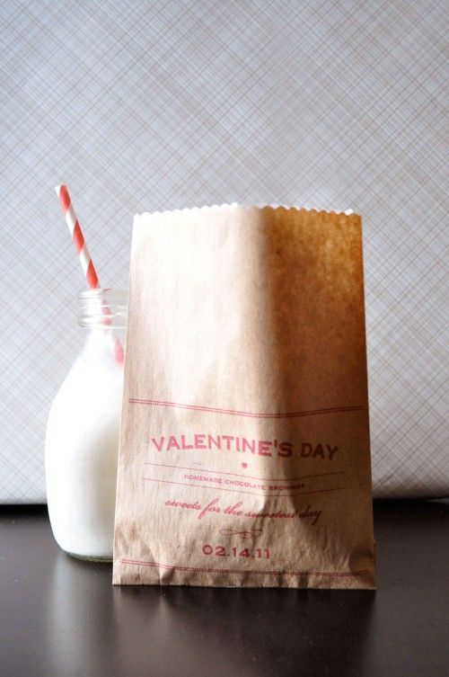 Printable valentine's day treat/gift bags