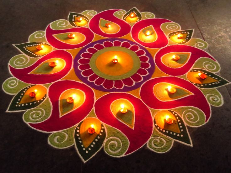 Handmade diwali decoration google search rangoli for Home made rangoli designs