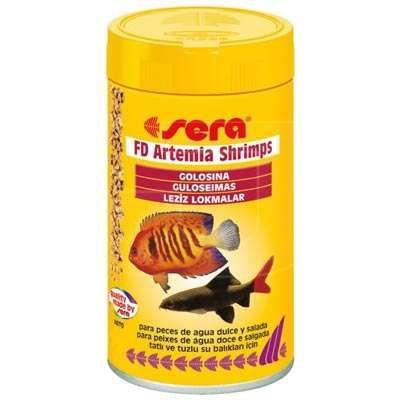 Yüksek miktarda protein ihtiva eden kurutulmuş Artemia yumurtası içeren leziz parçacıklar şeklinde granül balık yemi...