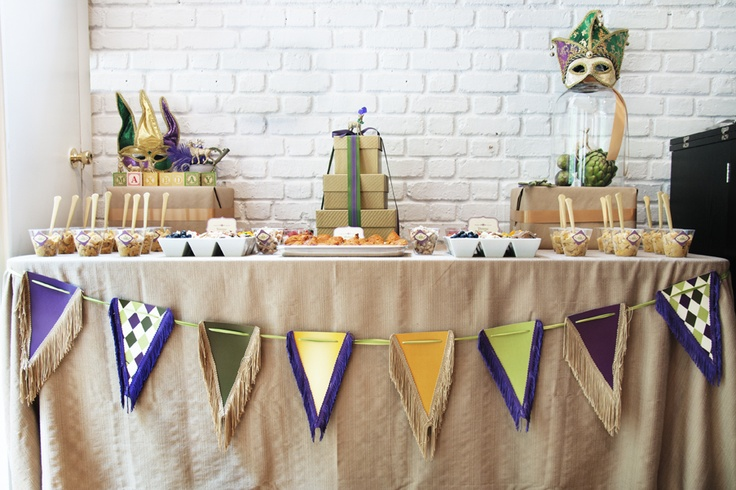 Simply Perfect Events | Mardi Gras | Food Table | www.simplyperfect…