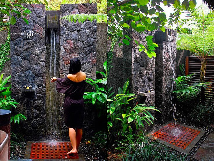 Oltre 10 fantastiche idee su doccia da giardino su - Docce da giardino in muratura ...