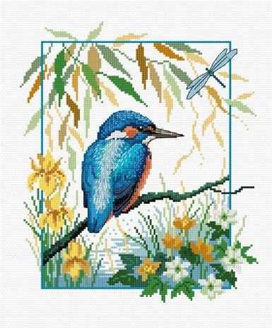 LJT034 Kingfisher | Lesley Teare Needlework and Cross Stitch Chart Designs