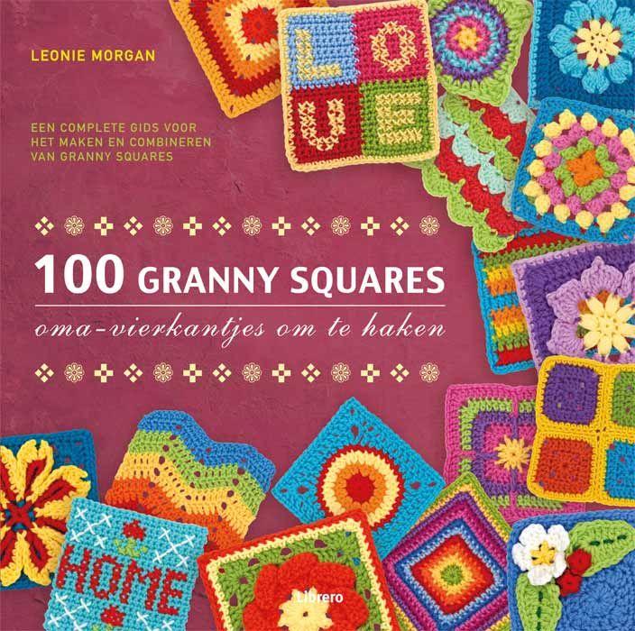 Boek: 100 granny squares - Oma's vierkantjes om te haken - DIY