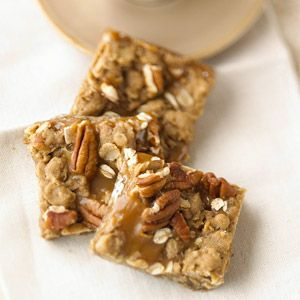 Rolled oats in this cookie recipe give these bars a chewy texture. The blend of coffee, caramel, and oats make these a perfect treat.