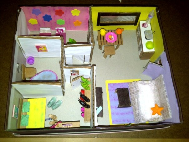Miniature Children S Bedroom Room Box Diorama: Shoebox Doll House Diorama