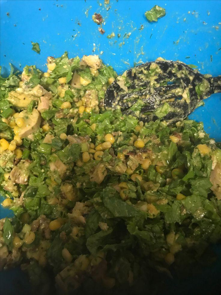 #avocadochickensalad w/vinaigrette
