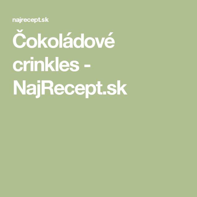 Čokoládové crinkles - NajRecept.sk