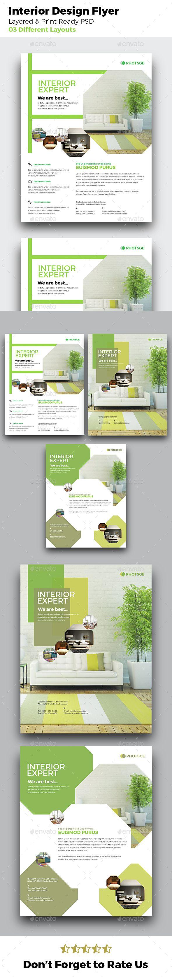 Interior Design Flyer, architecture, beautiful, brochure, clean, company…