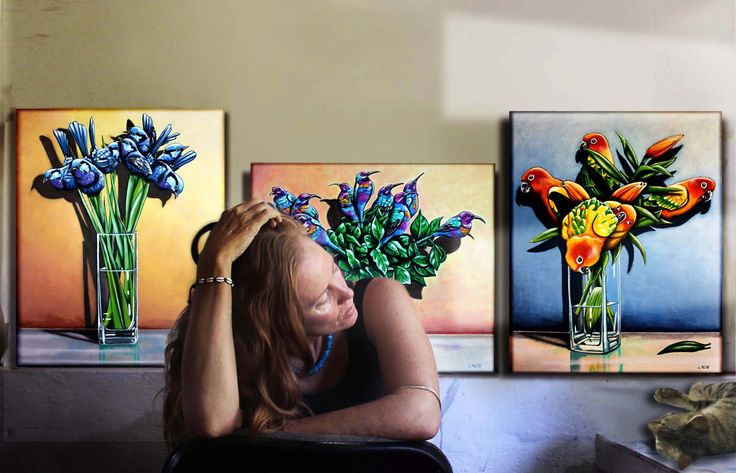 New blog about a new series of paintings by Laural Retz......The Bird Bouquets