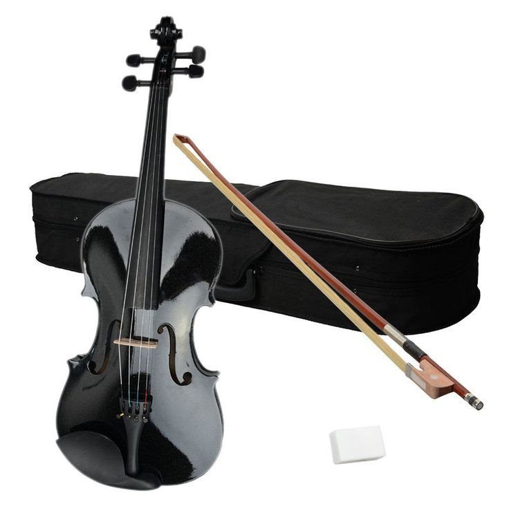 Hot Sale 15 Inch Student Adults Black Color Acoustic Viola  Case  Bow  Rosin