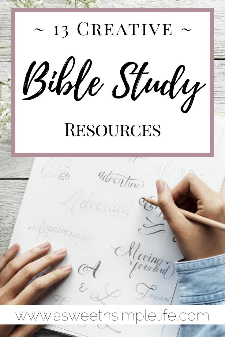 13 Creative Bible Study Resources -   Bible reading and study