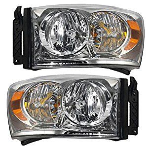 Amazon.com: Driver and Passenger Headlights Headlamps Replacement for Dodge Pickup Truck 68003125AD 68003124AD: Automotive