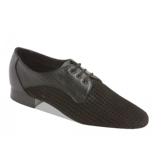 Supadance 6060, black leather/suede  Combination of Leather and perforated suede. New style for teaching and practice. Will keep your feet ultra cool. Regular fittings and low heel.   Price: 109.50€
