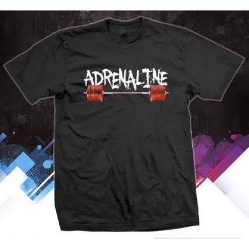 Adrenaline performance T shirt.  Stay dry while you workout with our our Gilden dry fit tshirts. Made of 100% polyester. #adrenalineapparel #gymshirts #activewear