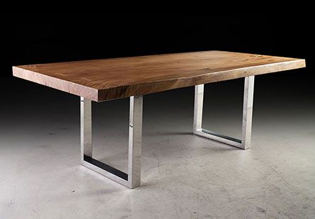 Suarina Wood Dining Table w/Louis SS Legs