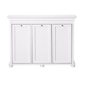 Home Decorators Collection Hampton Bay White Laundry Hamper-2601330410 at The Home Depot