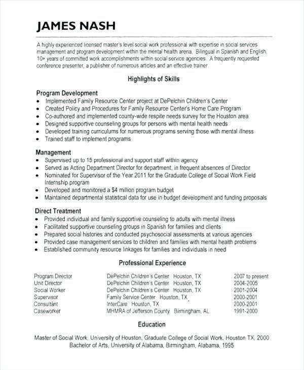 Good Resume Objectives For Social Services لم يسبق له مثيل الصور
