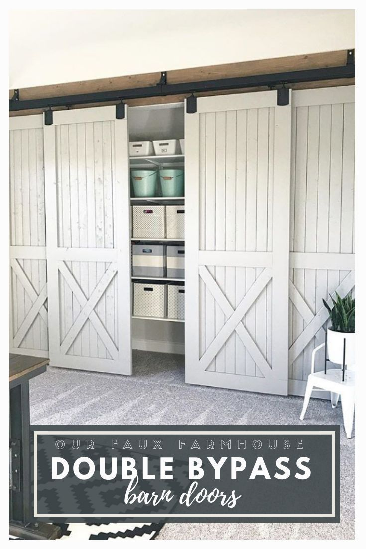 Our Faux Farmhouse Barn Doors Diy Rustic Organization With Images Barn Door Designs Barn Doors Sliding Diy Barn Door