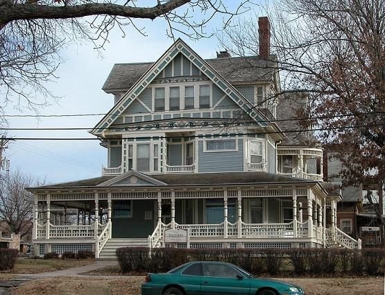 My house the charles yates house built in 1891 from a for Victorian stick style house plans