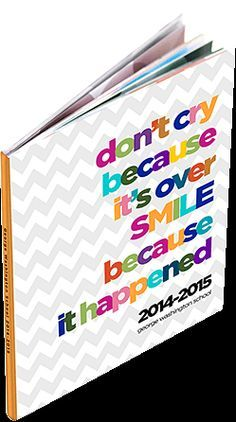 Middle school yearbook cover examples.  Create an affordable, quality yearbook at www.blossom-books.com