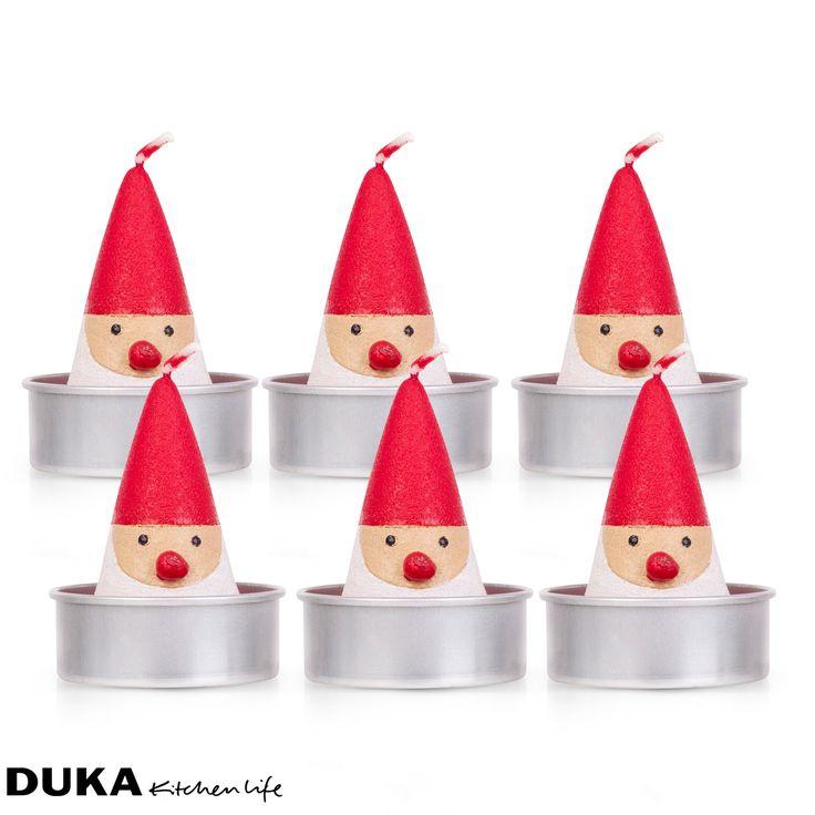 Dekoracyjne tealighty świeczki świąteczne, 6 szt., Duka 29,90 zł
