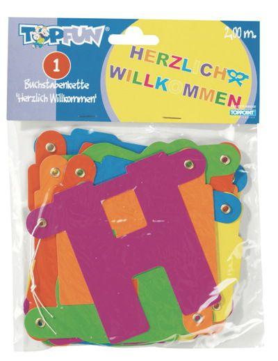 Girlande Herzlich Willkommen 2,0m Girlande | real,-