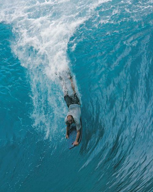 """""""Mr. Pipeline"""" - Mike Stewart inspired me when I was a little grom, body boarding big waves was a big confidence booster."""