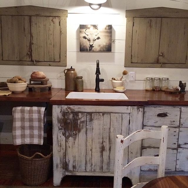 Our kitchen #farmhouse #rustic #vintagestyle #homesweethome #thewaywelive