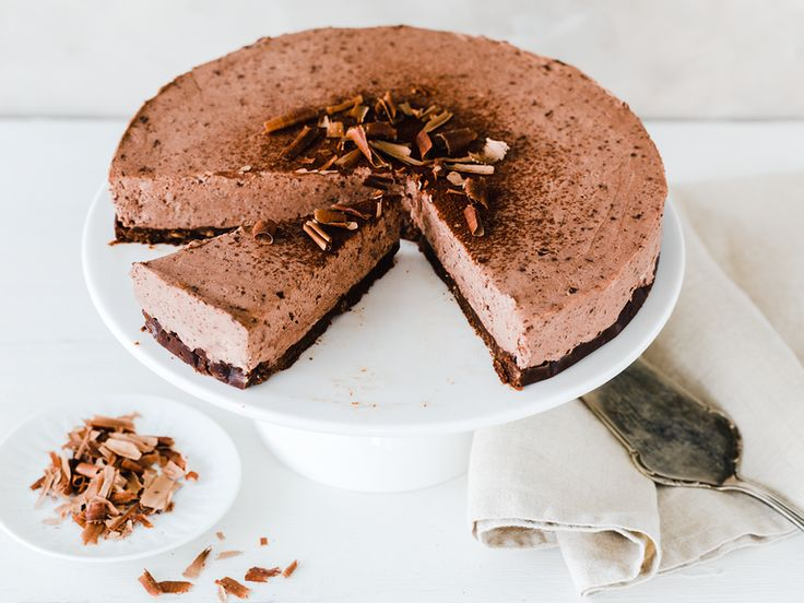 Chocolate cheesecake without baking