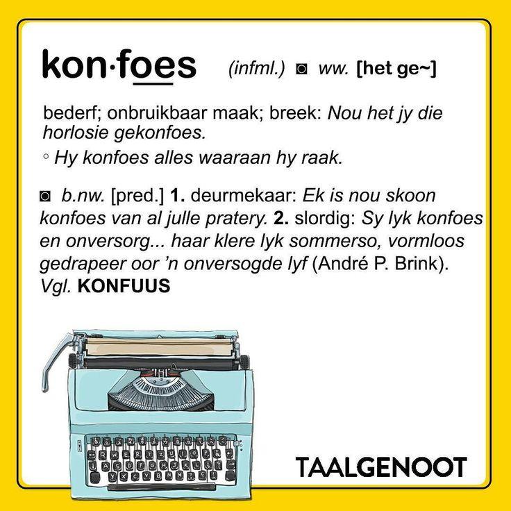 Konfoes... #Afrikaans #woordlys