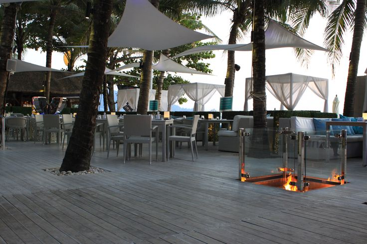 Barefoot friendly Accoya® wood decking installed at the Catch Beach Club Surin Beach in Phuket, South of Thailand. #accoya #wood