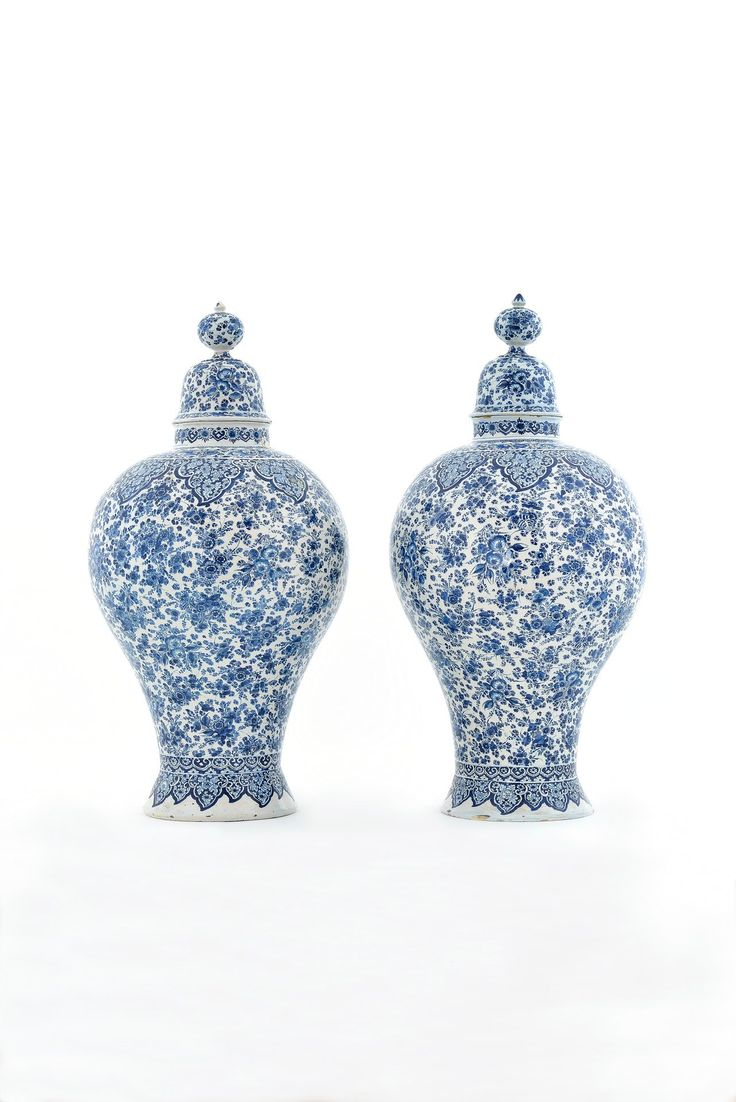 91 best a collection of blue and white images on pinterest blue pair of massive baluster form vases and covers delft circa 1700 20 aronson reviewsmspy