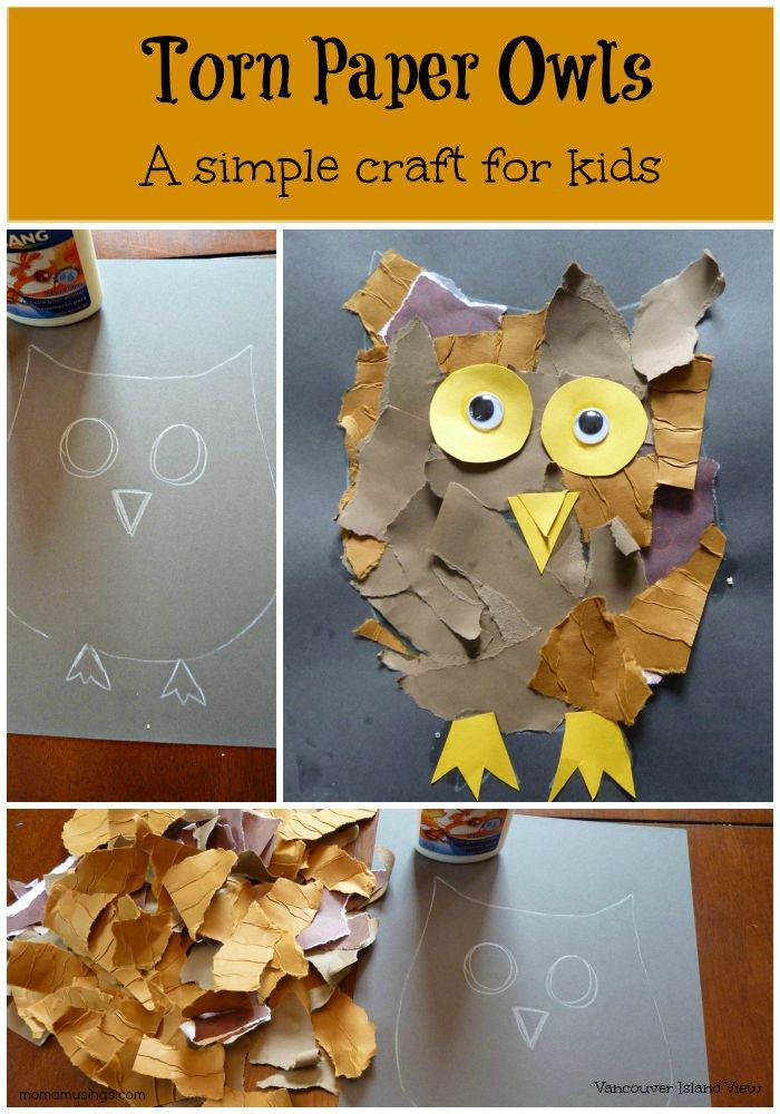 This torn paper owl craft is a great art project for kids. And seriously, who doesn't love owls?