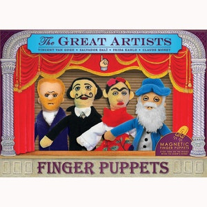 Artists Finger Puppet Set now featured on Fab.
