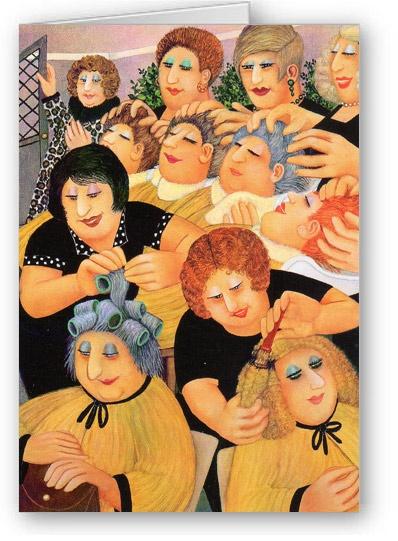 ~ Beryl Cook:  The Salon