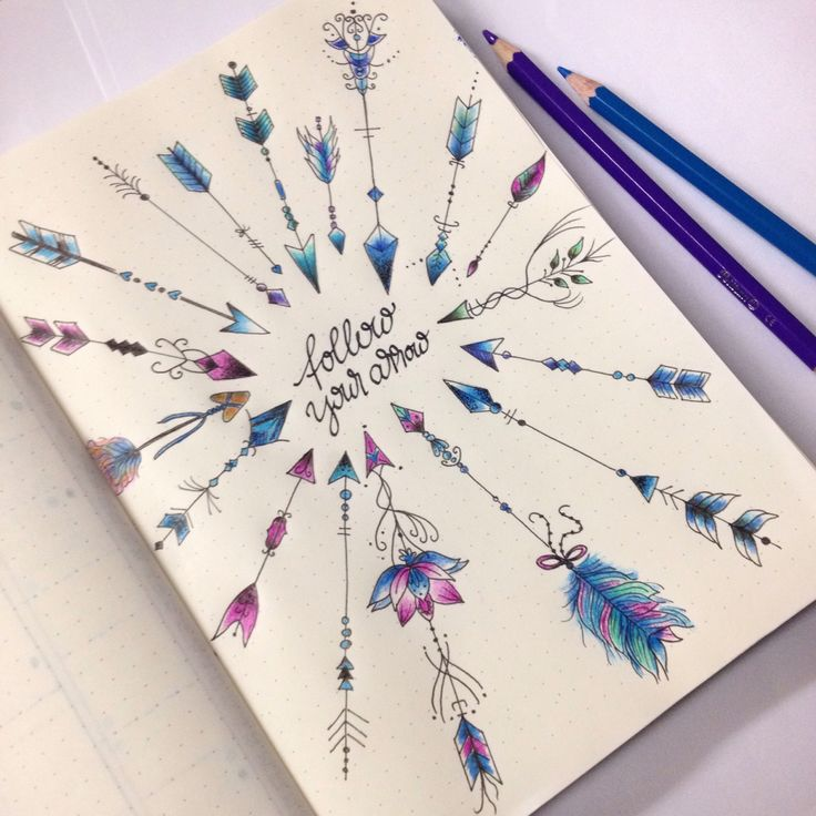 """I had so much fun creating my  """"arrow"""" page! Inspired by @boho.berry @write_it_on_the_wall and Pinterest! #arrows #drawing #bulletjournal"""