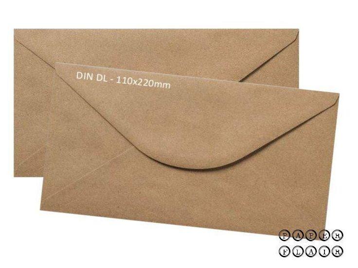 100 Briefumschläge DIN lang Kraftpapier von Paperflair auf DaWanda.com