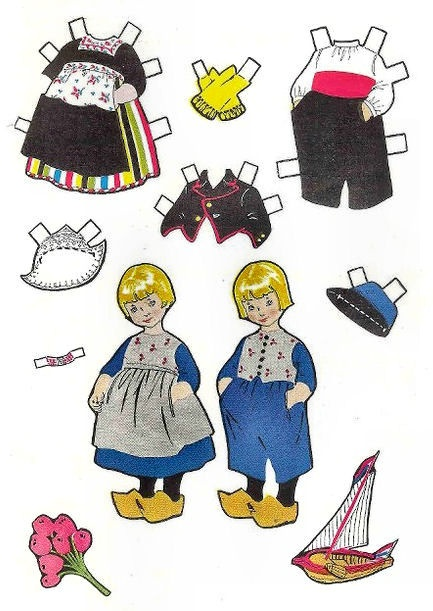 PAPER DOLLS FROM HOLLAND - Herthe, Jacobe and Jan from Jack and Jill Magazine, August 1953  (2 of 2)