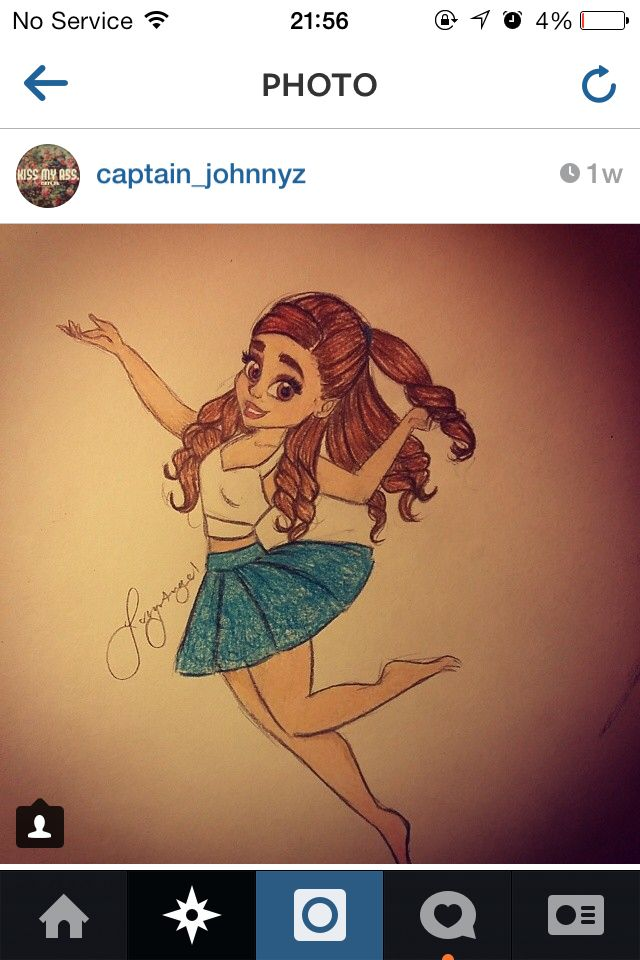 This is acc a photo from my photos em it's a drawing of Ariana grande and to me it's fab!!!