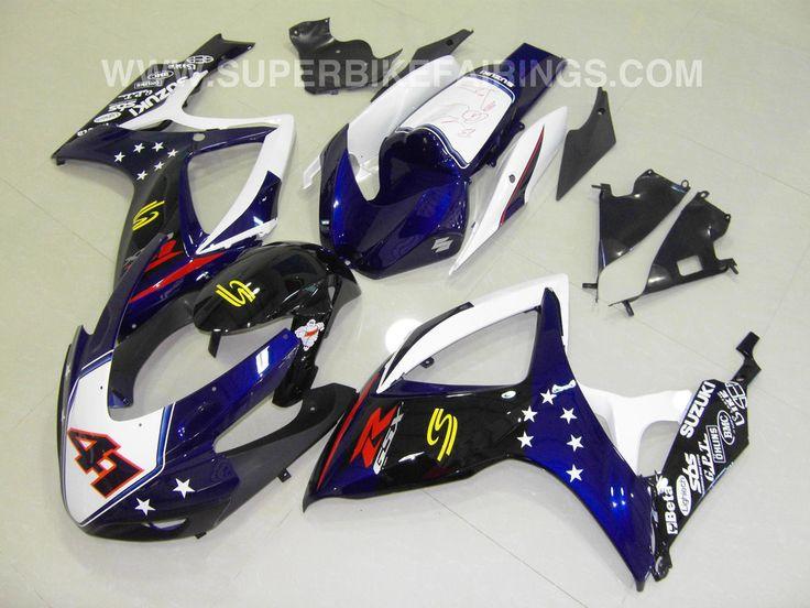 2006-2007 GSXR-600 750 Blue & Black Race Fairings