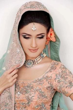 People have confidence in Southeast Asia (especially India and Pakistan) that a marriage can not be beautiful without heavy embroidered dress, bridal makeup and Mehndi Design. All these Bridal Makeup, Make Over is our traditional makeup mostly use in our wedding ceremony, Mehndi functions, wedding parties and also works Walima.