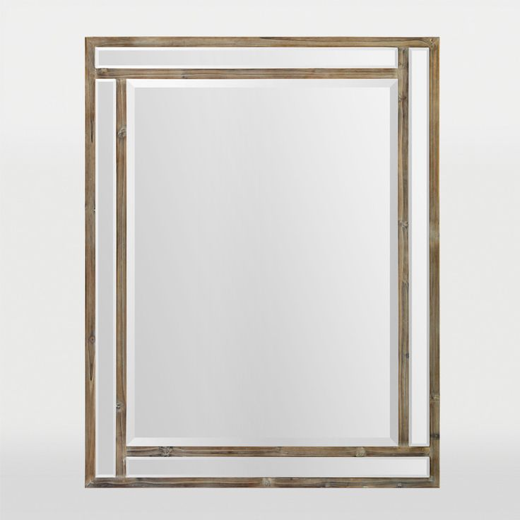 Un miroir rectangulaire biseau dans un cadre de - Miroir adhesif rectangulaire ...