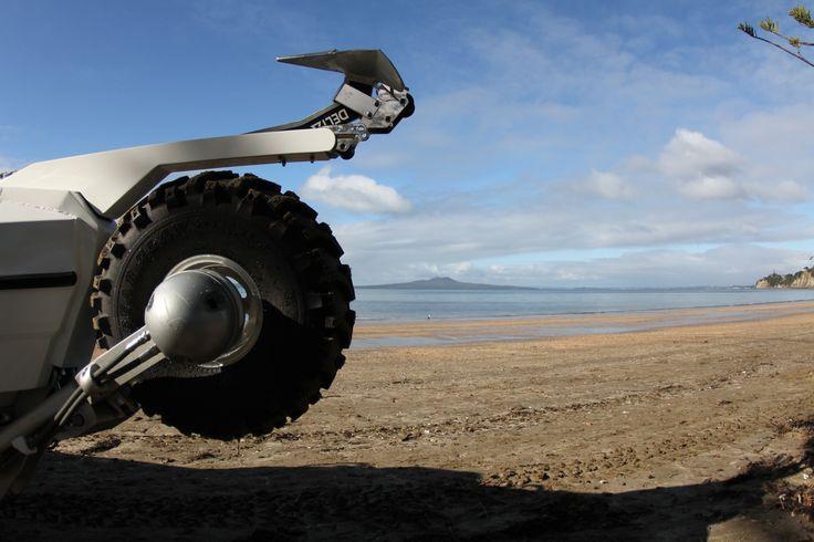 Sealegs D-tube on the beach