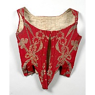brocade boned bodice  1770-1790  place of origin: UK