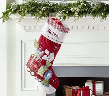 Train Quilted Stocking #pbkids
