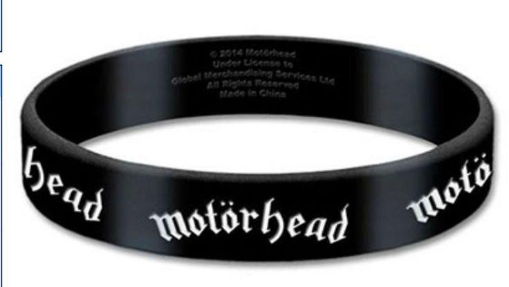 MOTORHEAD Logo Rubber Wristband Official Band Merch